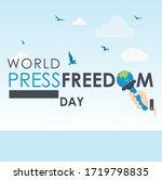 world press freedom day 2020 | Shutterstock .eps vector #1719798835