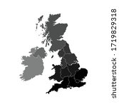 united kingdom map flat design... | Shutterstock .eps vector #1719829318