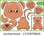 cut and glue the paper a bear....   Shutterstock .eps vector #1719878845