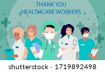 thank you  doctors  nurses  and ... | Shutterstock .eps vector #1719892498