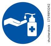 use hand sanitizer symbol sign  ... | Shutterstock .eps vector #1719893242
