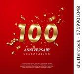 100th anniversary celebration... | Shutterstock .eps vector #1719901048
