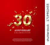 30th anniversary celebration.... | Shutterstock .eps vector #1719902455