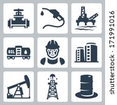 vector oil industry icons set | Shutterstock .eps vector #171991016