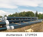 stock of pipes ready to put...   Shutterstock . vector #1719924