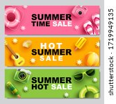 summer sale  banner layout... | Shutterstock .eps vector #1719949135