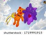 Yellow  Orange And Purple Kites ...