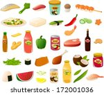 vector illustration of various... | Shutterstock .eps vector #172001036