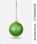 Green  Christmas Ball With...