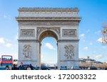 paris   dec 26  arc de triomf... | Shutterstock . vector #172003322