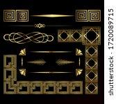 art decor luxury golden headers.... | Shutterstock .eps vector #1720089715