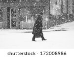 snowing urban landscape with... | Shutterstock . vector #172008986