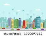 flat design of smart city... | Shutterstock .eps vector #1720097182