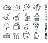 set of food icon isolated.... | Shutterstock .eps vector #1720115128
