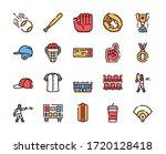 baseball outline icons set on...   Shutterstock .eps vector #1720128418