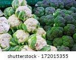 Broccoli And Cauliflower On...