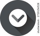 down arrow button vector icon
