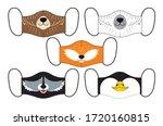 set of designs of reusable... | Shutterstock .eps vector #1720160815