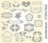 vintage elements part 2 | Shutterstock .eps vector #172017662