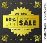 vector illustration of a sale... | Shutterstock .eps vector #1720229848