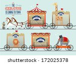 circus comes to town circus... | Shutterstock .eps vector #172025378