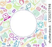 pattern with school elements.... | Shutterstock .eps vector #1720257598