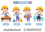 action verbs for children... | Shutterstock .eps vector #1720293532