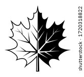 vector maple leaf isolated on... | Shutterstock .eps vector #1720318822