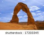 delicate arch in arches... | Shutterstock . vector #17203345