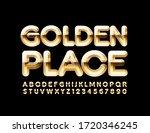 vector elite emblem golden... | Shutterstock .eps vector #1720346245