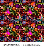 funny seamless wallpaper with... | Shutterstock .eps vector #1720363132