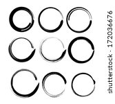 grunge circles for black paint. ... | Shutterstock . vector #172036676