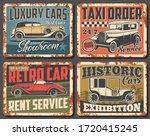 retro car and vintage auto... | Shutterstock .eps vector #1720415245