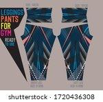leggings pants vector for gym... | Shutterstock .eps vector #1720436308