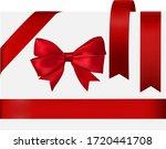 shiny red satin ribbon on white ... | Shutterstock .eps vector #1720441708