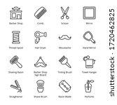 barber shop outline icons  ...   Shutterstock .eps vector #1720462825