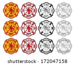 firefighter cross symbol is an... | Shutterstock .eps vector #172047158