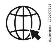 globe icon  go to web icon...   Shutterstock .eps vector #1720477525