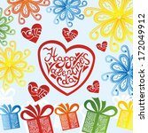 valentines day card romantic... | Shutterstock .eps vector #172049912