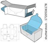 cardboard packaging for masks ... | Shutterstock .eps vector #1720536178