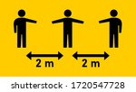 social distancing keep your... | Shutterstock .eps vector #1720547728
