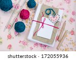 old notebook for love notes and ... | Shutterstock . vector #172055936