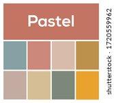 2020 colors palette. pastel...   Shutterstock .eps vector #1720559962