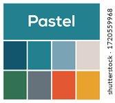 2020 colors palette. pastel...   Shutterstock .eps vector #1720559968