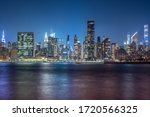 New york city cityscape during...