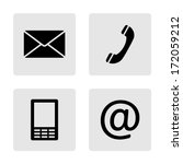 contact monochrome icons set  ... | Shutterstock .eps vector #172059212