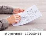close up of a businesswoman at... | Shutterstock . vector #172060496