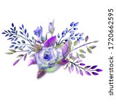 bouquet of roses  leaves ...   Shutterstock . vector #1720662595