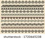ethnic pattern. set. handmade.... | Shutterstock .eps vector #1720665238
