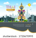 thai giant design  on thailand... | Shutterstock .eps vector #1720670995